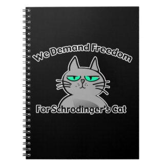 Schrodinger's Cat Funny Geek Humor Notebooks