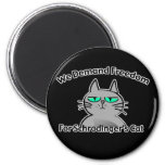 Schrodinger's Cat Funny Geek Humour Fridge Magnets