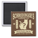 Schrodinger's Cat Funny Quantum Mechanics Paradox Fridge Magnets
