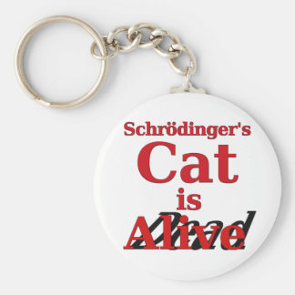 Schrodinger's Cat is Alive Dead Basic Round Button Key Ring
