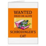 schrodinger's cat joke greeting card
