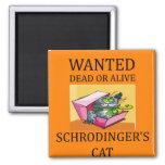 schrodinger's cat joke refrigerator magnets