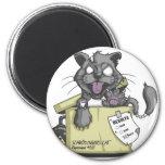 Schrodinger's Cat - New 6 Cm Round Magnet