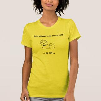 Schrodinger's cat sleeps here... T-Shirt