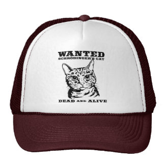 Schrodinger's cat wanted dead or alive hats