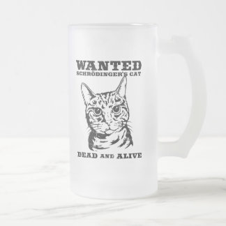 Schrodinger's cat wanted dead or alive coffee mug
