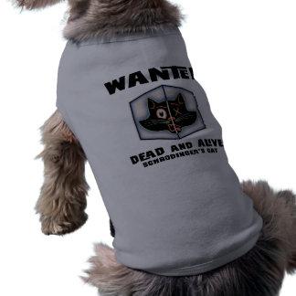 Schrodinger's Cat Wanted Sleeveless Dog Shirt