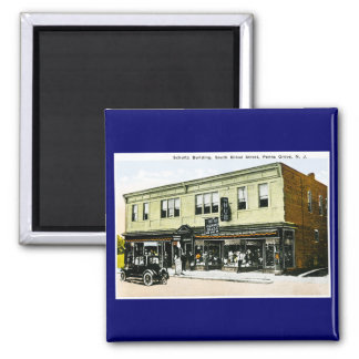 Schultz Building, Penns Grove, New Jersey Square Magnet