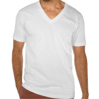Schulz Army American Apparel Men's White V-Neck T- T-shirts