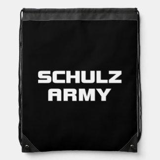 Schulz Army Black Drawstring Backpack