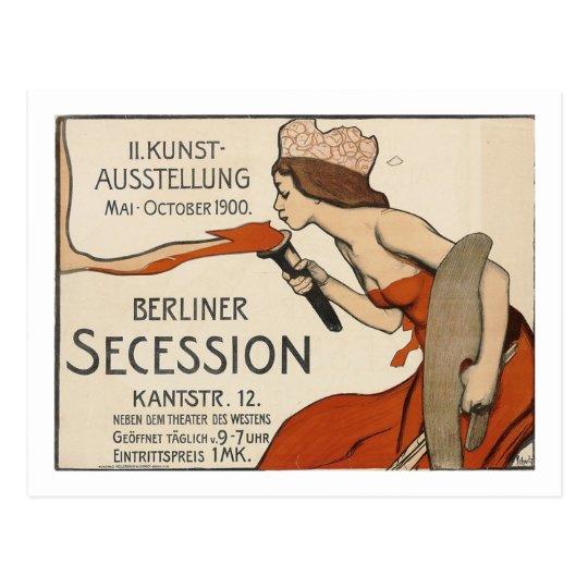 Schulz Berliner Secession Exhibition Vintage Postcard