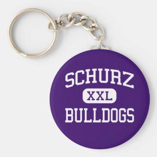 Schurz - Bulldogs - High School - Chicago Illinois Basic Round Button Key Ring