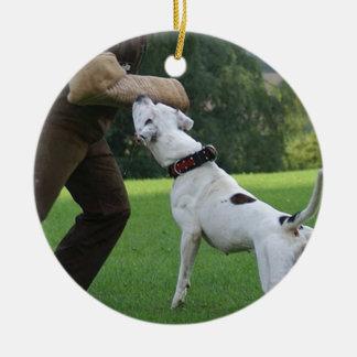 Schutzhund American Bulldog Christmas Ornaments