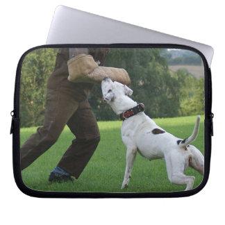 Schutzhund American Bulldog Laptop Sleeve