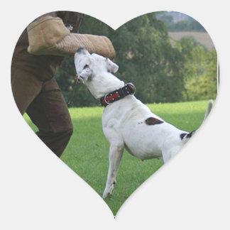 Schutzhund American Bulldog Heart Sticker