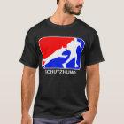 schutzhund  red and blue logo dark t-shirt