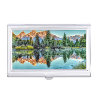 Schwabacher's Landing and Beaver Pond Business Card Holder