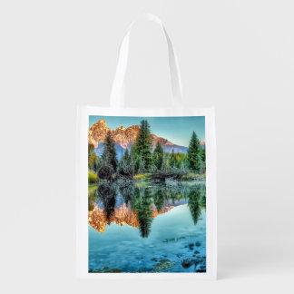 Schwabacher's Landing and Beaver Pond Reusable Grocery Bag