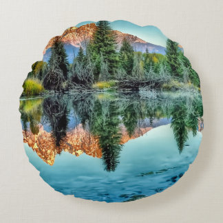 Schwabacher's Landing and Beaver Pond Round Cushion