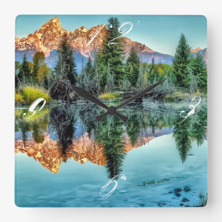 Schwabacher's Landing and Beaver Pond Square Wall Clock