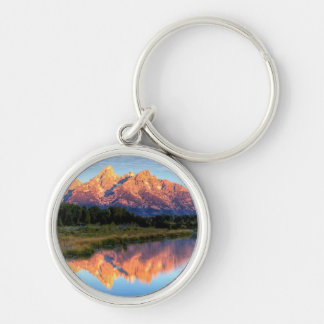 Schwabacher's Landing Silver-Colored Round Key Ring