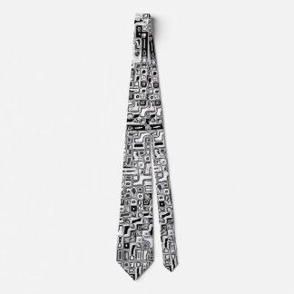 schwarz weiss Rechtecke black white rectangles Tie