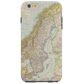Schweden, Norwegen - Sweden and Norway Map Tough iPhone 6 Plus Case