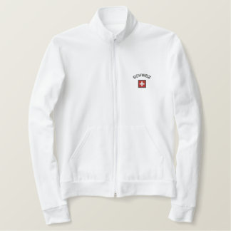 Schweiz Jogger Jacket With Switzerland Pocket Flag