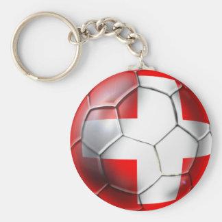 Schweiz Switzerland soccer ball fans gifts Basic Round Button Key Ring
