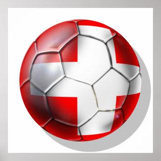 Schweiz Switzerland soccer ball fans gifts Posters