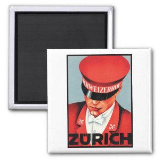 Schweizerhof Zurich Fridge Magnet