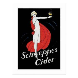 Schweppes Cider Post Card
