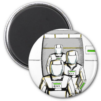 Sci-Fi Astronauts Refrigerator Magnet