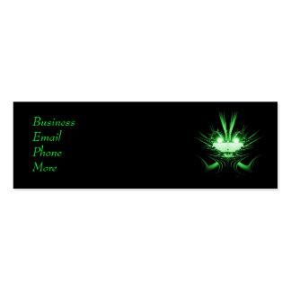 Sci-Fi Creature Green Profile Card Business Card