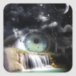 Sci-Fi Eye Square Sticker