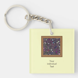 sci-fi fantasy cosmos pink Single-Sided square acrylic key ring