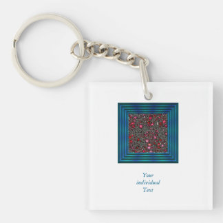 sci-fi fantasy cosmos red Single-Sided square acrylic key ring