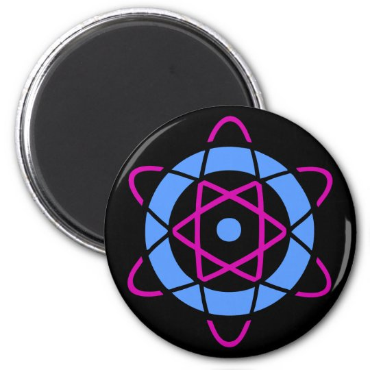 Sci Fi Geek Atom Symbol 6 Cm Round Magnet