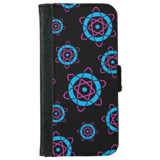 Sci Fi Geek Atom Symbol iPhone 6 Wallet Case