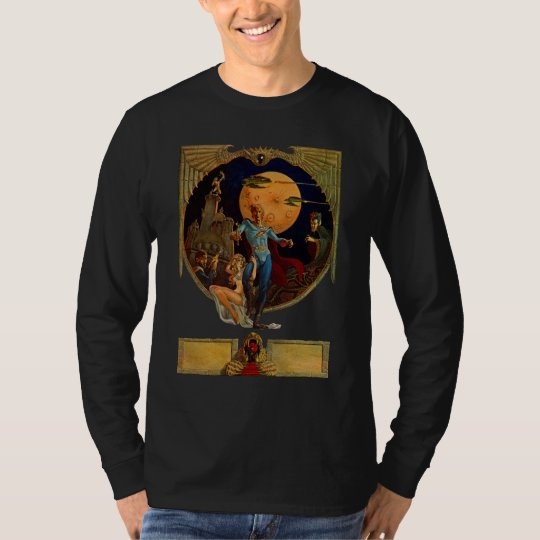 Sci-Fi Hero Movie Poster T-Shirt