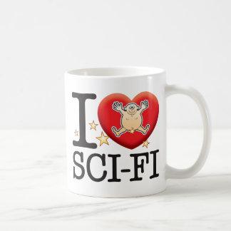 Sci-Fi Love Man Basic White Mug