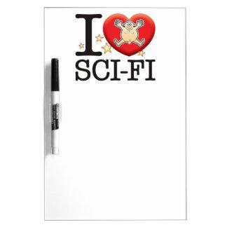 Sci-Fi Love Man Dry-Erase Boards