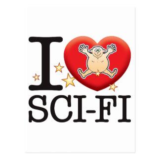 Sci-Fi Love Man Postcard