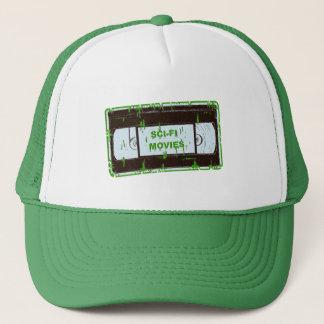 Sci-Fi-Movies Black & Green Non Black Square Trucker Hat
