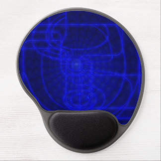 Sci-Fi Neon Circuits Gel Mouse Pad