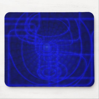 Sci-Fi Neon Circuits Mouse Pad
