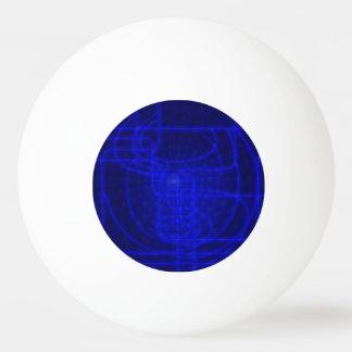 Sci-Fi Neon Circuits Ping Pong Ball