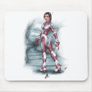 Sci-Fi Pin Up Girl Mouse Pads