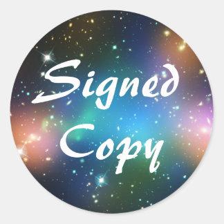 Sci Fi Signed Copy Round Sticker