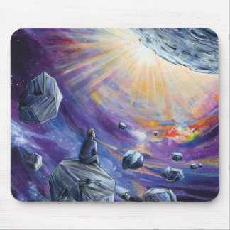 sci-fi space mouse pad
